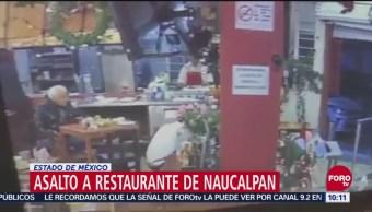 Difunden video de asalto a taquería en Naucalpan
