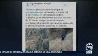 Localizan a excursionistas extraviados en cerro de La Malinche, en Puebla