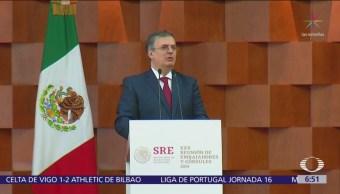 Ebrard reitera que respetarán autonomía de otros países