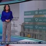 El Clima 'A las Tres' con Daniela Álvarez del 10 de enero de 2019