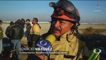 Mueren dos pepenadores en incendio en Bordo de Xochiaca