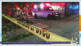 Encuentran 7 cuerpos en vivienda de Cancún