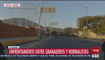 Enfrentamiento Entre Granaderos Normalistas En Chiapas