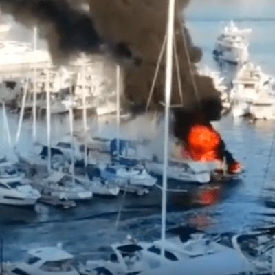 Video: Explota embarcación en Club de Yates de Acapulco