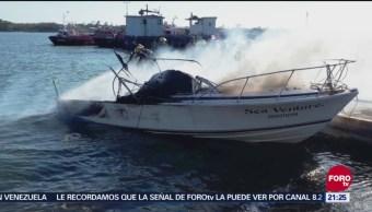 Explota Yate En El Río Pánuco, Tamaulipas, Explota Yate, Río Pánuco,