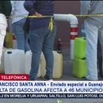 Falta de gasolina afecta a 46 municipios de Guanajuato