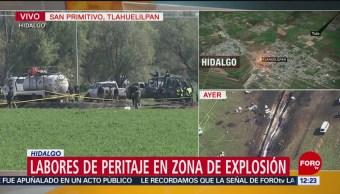 Familiares buscan a desaparecidos por explosión de ducto en Hidalgo