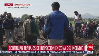 Familiares de víctimas ayudan en labores de indicios en Tlahuelilpan, Hidalgo