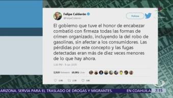 Felipe Calderón defiende lucha contra huachicoleros en su Gobierno