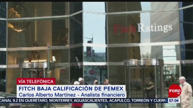 Fitch Ratings baja calificación de Pemex