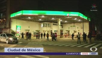 Flamazo en gasolinera deja dos personas lesionadas en alcaldía Cuauhtémoc