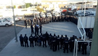 Foto: policías de Hermosillo pasan antidoping, 23 de enero 2019