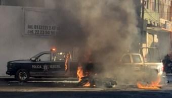 Texmelucan: Queman patrullas que provocaron muerte de menor