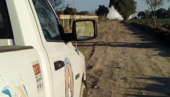 Foto: Fuga de gas LP en autopista Puebla-Orizaba, 28 de enero 2019. Twitter @PC_Estatal