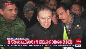 Gobierno Hidalgo Garantiza Apoyo Heridos Familiares Víctimas Explosión