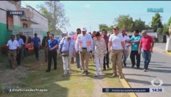 Habilitan albergue para caravana migrante en Chiapas