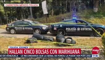 Hallan Cinco Bolsas Con Marihuana En Toluca, Edomex, Marihuana, Toluca, Edomex, Estado De México