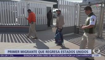 Hondureño, primer migrante que pidió asilo a EU desde Tijuana