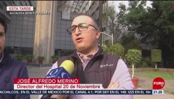 Hospital 20 de Noviembre de CDMX atiende a 5 lesionados de Hidalgo