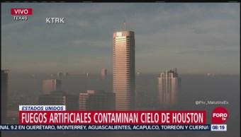 Houston amanece con capa de smog por fuegos artificiales