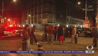 Hundimiento de edificio en la colonia Granjas México