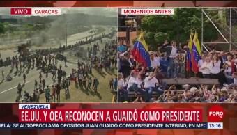 Imágenes de los enfrentamientos en Venezuela
