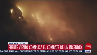 Incendio en tiradero de basura en Jalisco