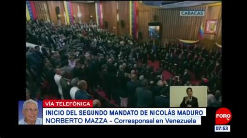 Inicia segundo mandato de Nicolás Maduro en Venezuela