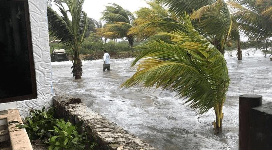 FOTO Frente frío 31 deja un muerto en Quintana Roo / Isla Holbox 28 enero 2019