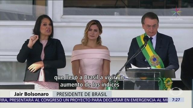 Jair Bolsonaro, así fue su investidura presidencial en Brasil