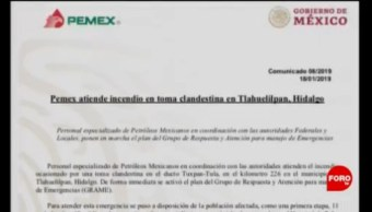 Pemex Atiende Incendio Explosión Ducto Hidalgo
