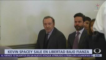 Kevin Spacey queda en libertad bajo fianza