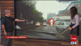 #LaCámaraUrbana en Expreso: Automóvil avanza por carril de bicicletas
