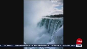 Las cataratas del Niágara están congeladas