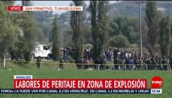 Salen a funerarias camionetas con cuerpos de víctimas en Hidalgo