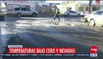 Chihuahua Registra Temperaturas De 15 Grados Bajo Cero, Chihuahua, Temperaturas, 15 Grados Bajo Cero, Frente Frío Número 22, Sexta Tormenta Invernal