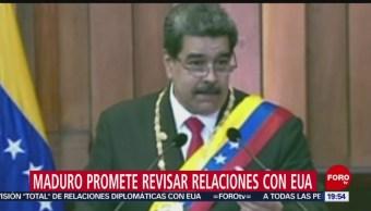 Maduro Promete Revisar Relaciones Con Eu