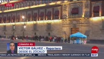 Manifestantes protestan en Zócalo capitalino