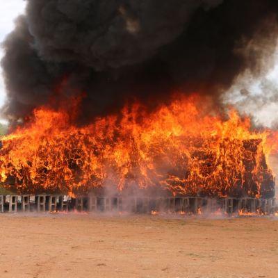 Incineran cinco toneladas de narcóticos en Sonora
