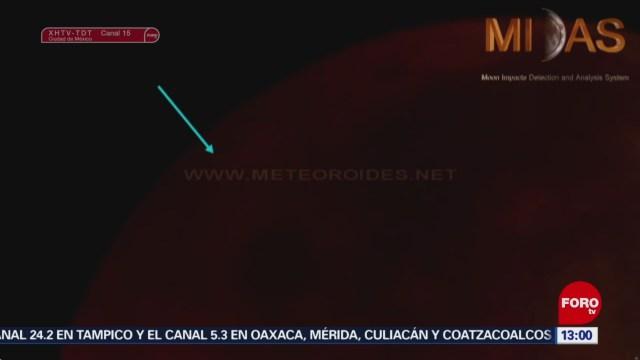 Foto: Meteorito se impacta en la Luna durante eclipse