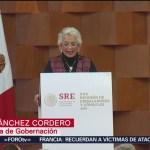 México deportará a migrantes que entren de forma ilegal, Sánchez Cordero
