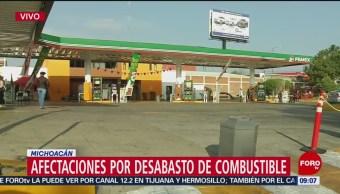 Michoacán cumple 19 días en sin gasolina