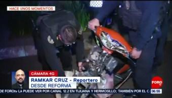 Microbús arrolla a motociclista en Paseo de la Reforma, CDMX
