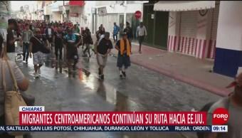 Migrantes centroamericanos continúan su ruta hacia EU