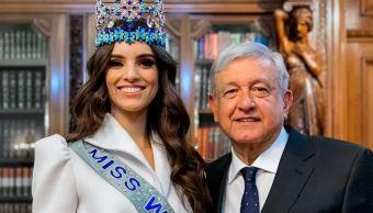 El presidente de México, Andrés Manuel López Obrador, recibe a Vanessa Ponce de León