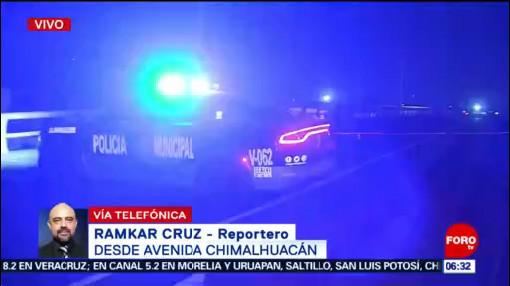 Muere persona tras ser atropellada en Chimalhuacán, Edomex