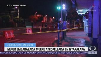 Mujer embarazada muere atropellada en Iztapalapa
