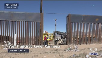 Muro en El Paso, Texas, no detiene a los migrantes