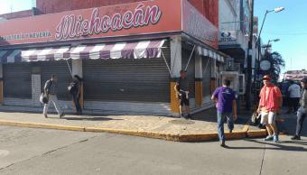 Caravana migrante, negocios cerrados Tapachula, Twitter, 22 de octubre 2018