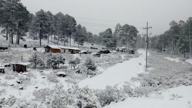 Nevada sorprende 4 comunidades de Guanasevi, Durango